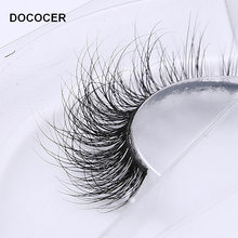 3D Mink Eyelash Real Mink Eyelashes Handmade Crossing Lashes Individual Strip Thick Lash Fake Eyelashes A02