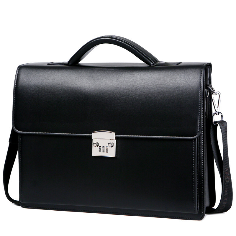 2020 New Male Bring Password Lock Briefcase Diagonal Package Genuine Leather Computer Bag Men Messenger Luxury Handbags Maleta