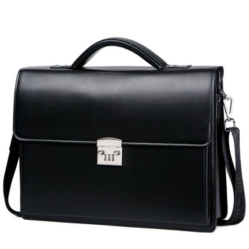 2020 New Male Bring Password Lock Briefcase Diagonal Package Genuine Leather Computer Bag Men Messenger Luxury Handbags Maleta