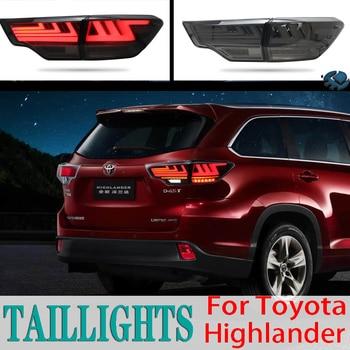 BERA BEAR Car Styling For TOYOTA Highlander Taillights 2015-2019 LED Tail Light LED Lamp DRL+ Brake+Back-up+turn signal+Fog Lamp