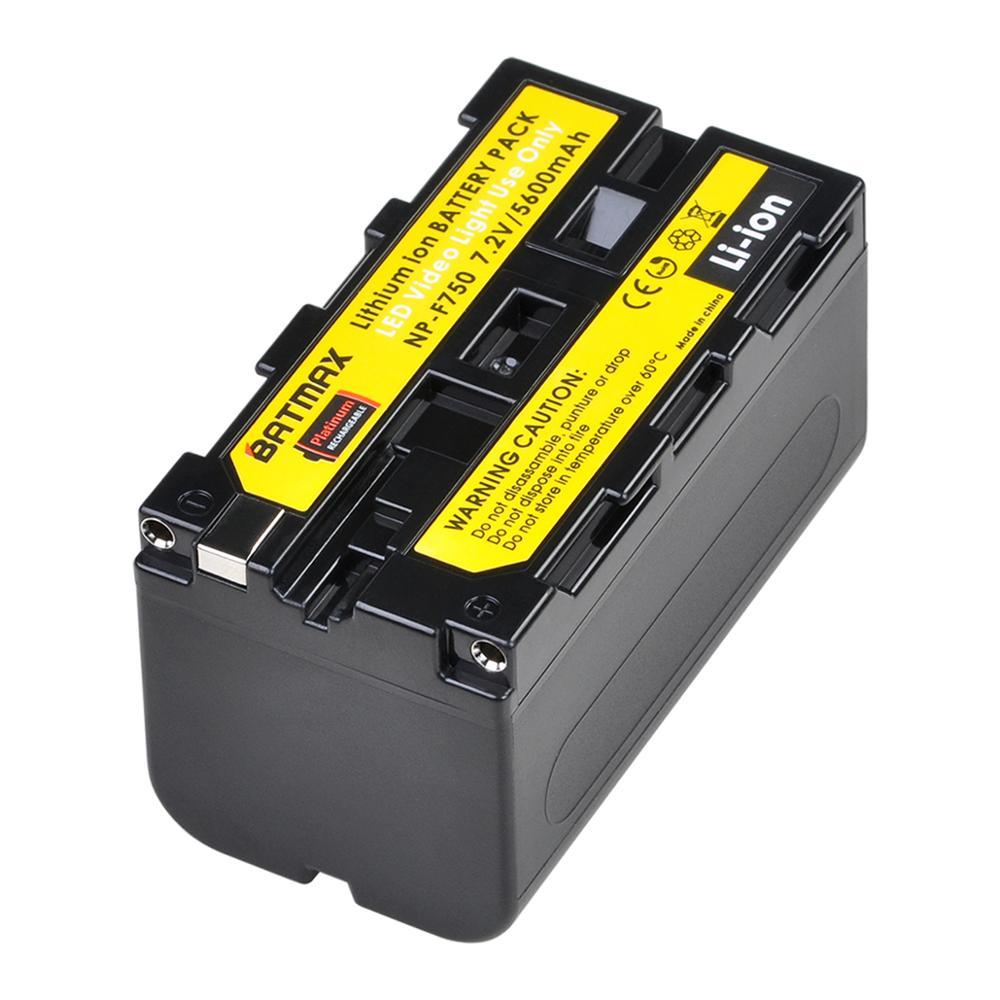 Batmax 5200 mah NP-F750 np f750 NP-F770 li-ion bateria para yongnuo yn300 iii YN-300 iii câmera foto led luz de vídeo e mais