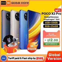 W magazynie wersja globalna POCO X3 Pro 6GB 128GB 8G 256GB NFC Smartphone Snapdragon 860 33W Quad AI kamera 120Hz DotDisplay 5160mAh tanie tanio Niewymienna CN (pochodzenie) Android Zamontowane z boku Rozpoznawanie twarzy 48Mp Adaptacyjne szybkie ładowanie USB-PD