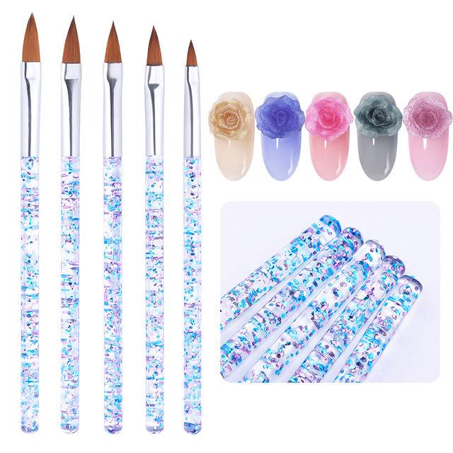 Nail Liner Brush Drawing Lines Flower Painting Pen Mixed Size Colorful Nails Pen Plastic Handle Nail Art Tools Set Kits