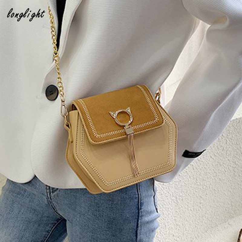 Longlight Woman Fashionable Shoulderbag Pu / Frosted Polyester Luxury Leather Brand Handbag Crossbody Bags For Women 2020