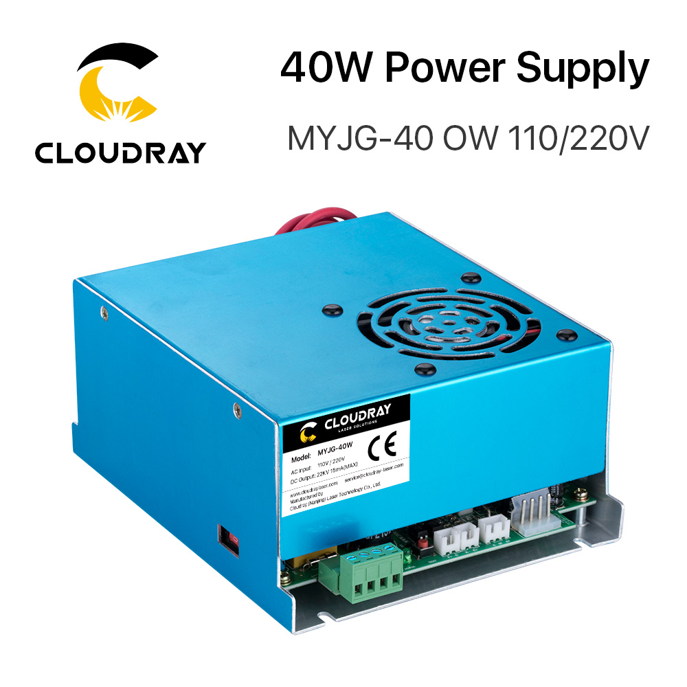 Cloudray 40W CO2 Laser Voeding 110V / 220V voor Laser Tube Gravure Snijmachine MYJG 40WT Model B MYJG