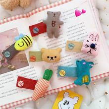 Hairpin cute cartoon hand-knitted bear hairpin small animal carrot edge clip accessories hairpin lace entry tutorial crochet hairpin pattern style pattern daquan hand knitted practical stitch technique woven books