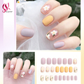 Fake Nails Professional Short Half French Full Cover Fingernail Tips DIY Cute Kawaii Rainbow Style Manicure Accessories Beauty