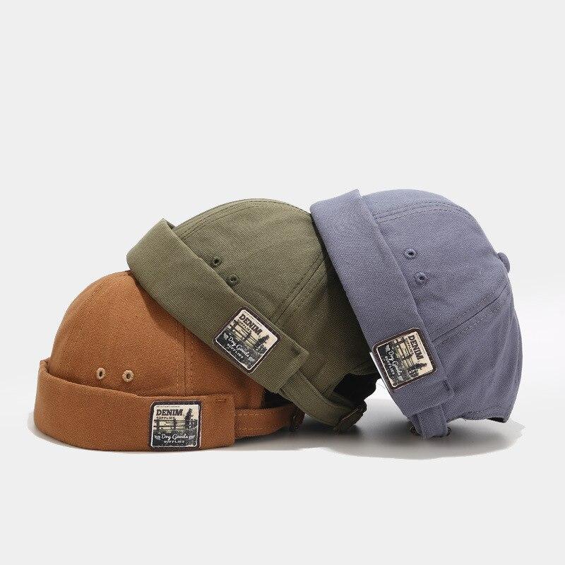 Women's-Spring New Retro Non-Eaves Skullcap Men's Hip-hop Yuppie Cap Hip Hop Hat