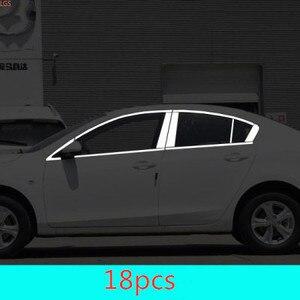 Для Mazda 3 2010-2015 украшение для автомобильных окон из нержавеющей стали защита от царапин автомобильные аксессуары