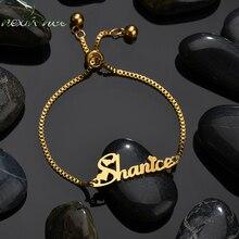 Bracelet Customized Stainless-Steel Nextvance Women Chain Gift Name Lover for Creative
