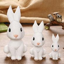 Ящик для денег с кроликом фигурки белая разборная копилка украшение