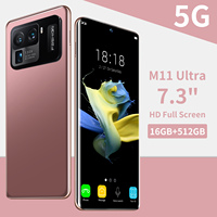 2021 più nuovo M11 Ultra 7.3 pollici 16GB 512GB 5G ID impronta digitale di rete 6800mAh Smart Phone 48 64MP Dual SIM Micro SD cellulari