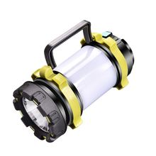 Portable LED Camping Lantern USB Rechargeable Power Bank Super Bright Flashlight Dimmable Spotlight Searchlight Outdoor outdoor super bright rechargeable hunting flashlight cree xml l2 60w led portable spotlight with hight middle flash model