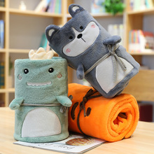 Cartoon animal portable blanket office nap coral fleece blanket children's flannel air condition blanket Christmas gift blankets free shipping baby blanket coral fleece flannel blanket bedding thicken air condition plaid cartoon blankets 200cmx230cm