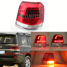 MIZIAUTO Rear tail lights Out side For Toyota LAND CRUISER 2016 2017 2018 Warning Light Brake Light Rear Bumper Light lights out