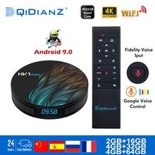 صندوق التلفزيون الذكي HK1MAX أندرويد 9.0 2.4G/5G واي فاي BT 4.0 RK رباعية النواة 4K 1080P كامل HD hk1 ماكس فك التشفير Netflix KD لاعب