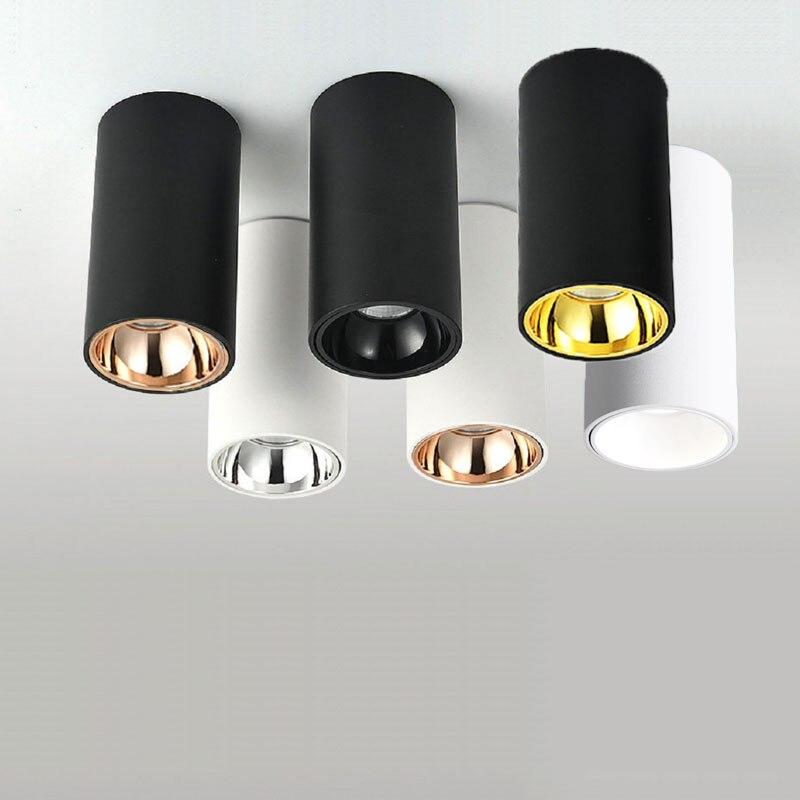 Cylinder Livingroom Kitchen Bedroom Foyer Offcer Rose Gold Dimmable LED Ceiling lights 5W 10W 15W 20W