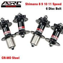 ARC 32 36 Trous Moyeu VTT 9x100 10x135 Dégagement Rapide de Moyeu de bicyclette Disque VTT Moyeu CR-MO EN ACIER Roue Libre Shimano 8 9 10 11 vitesses