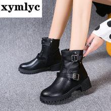 Женские дизайнерские ботинки коллекции 2020 года модные из искусственной