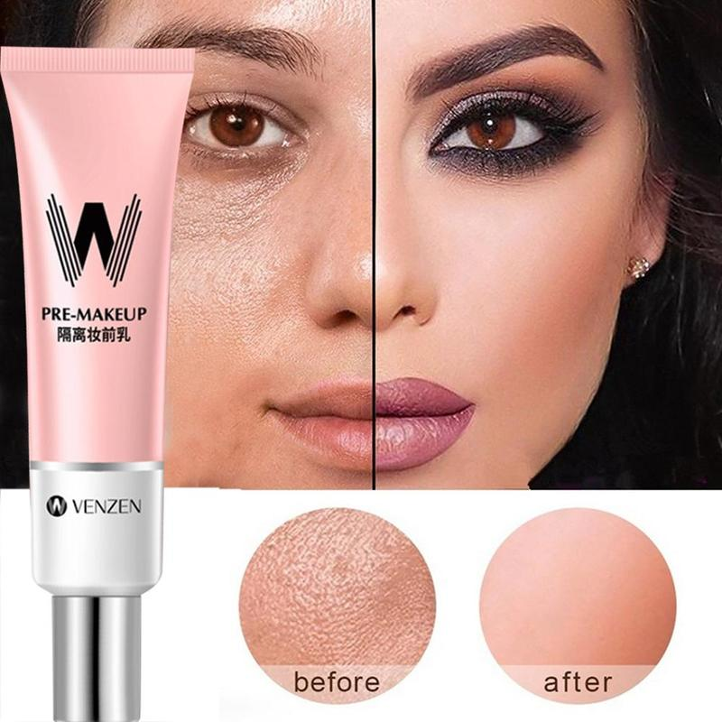 30ml VENZEN W Primer Make Up Shrink Pore Primer Base Smooth Face Brighten Makeup Skin Invisible Pores Concealer Korea Makeup