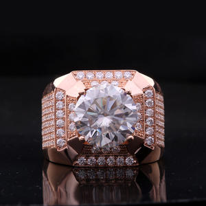 Ring-D Moissanite Diamond White Gold Color-Vvs Yellow 18K with National-Certificate 750au
