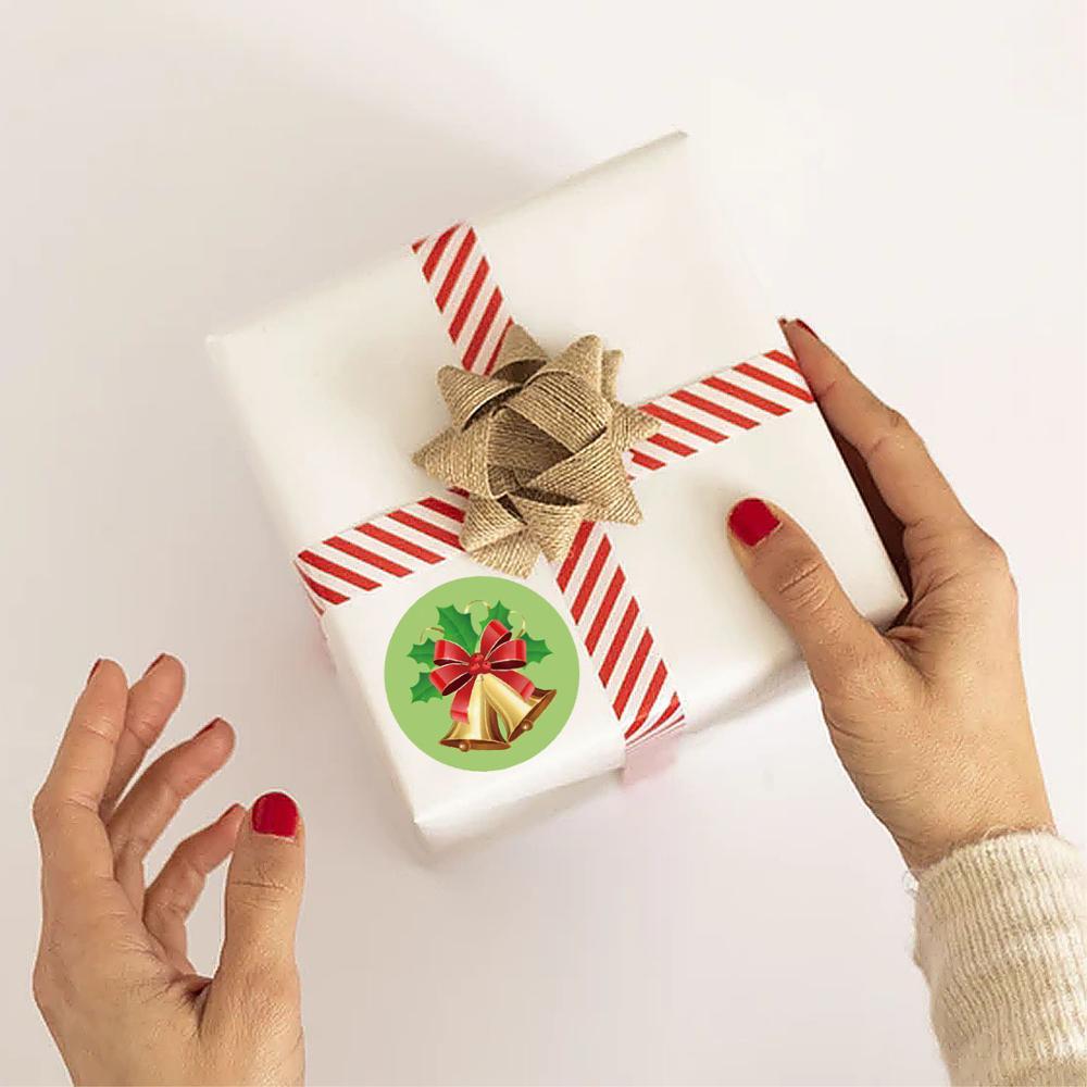 8 видов конструкций Рождественская наклейка «спасибо» Санта
