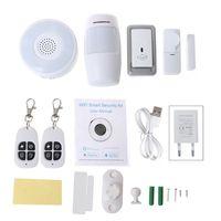 1Set 1Set Smart Home WiFi Security Alarm Kit Gateway Hub Door Window Sensor PIR Detector Automation Home Security System for