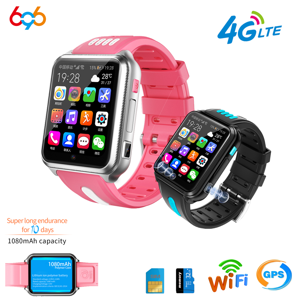 696 4G LTE localisation Tracker enfants/enfants/étudiant SmartWatch horloge Bluetooth montre intelligente WiFi SIM caméra GPS H1 horloge téléphone
