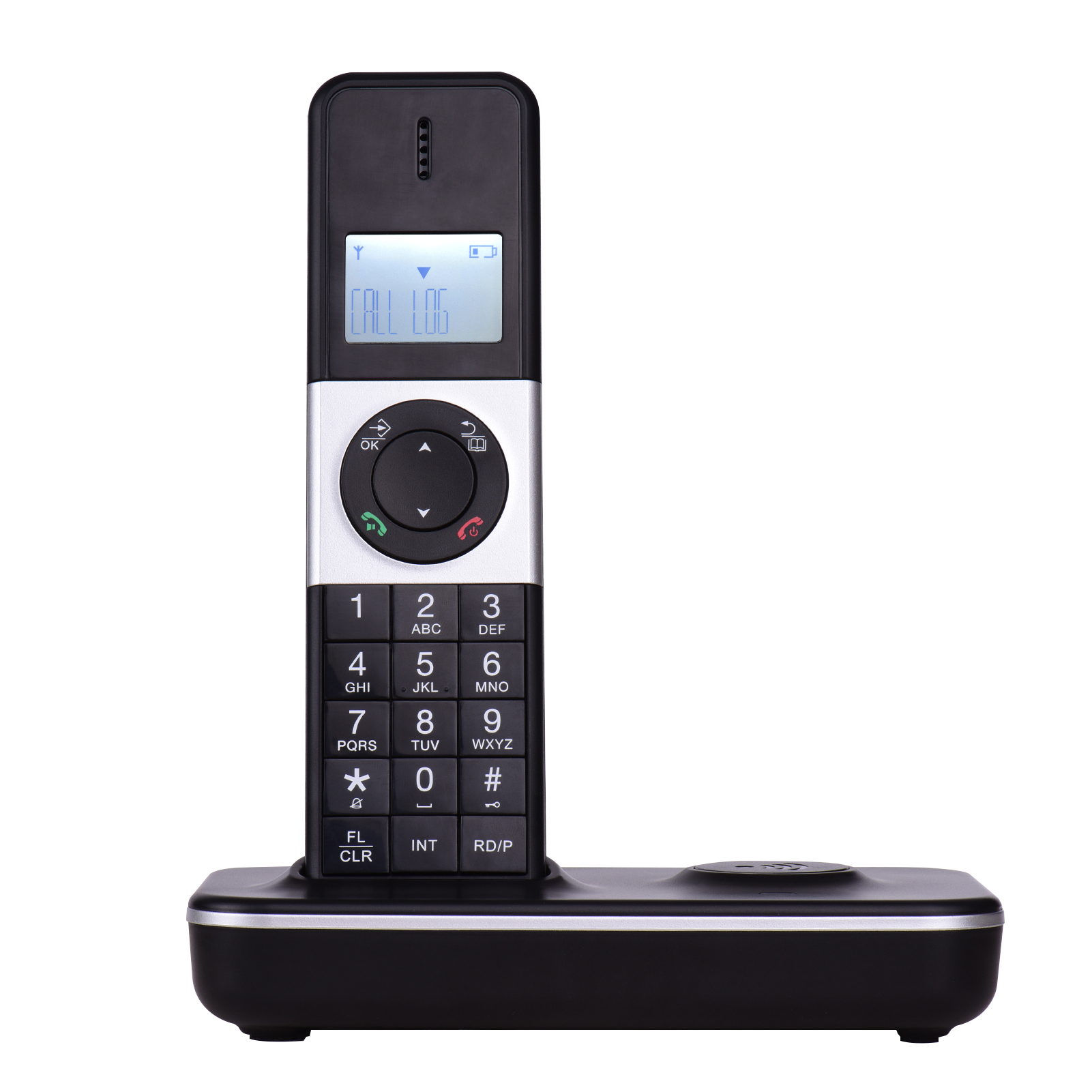 English Russian Multi-language Home Landline Phone Wireless with Flash Mute Redial LCD Blacklight Landline Cordless Telephone