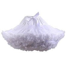 Girls Underskirt Petticoats Crinoline Tutu Ballet Dance Wedding-Bridal Party Blue White