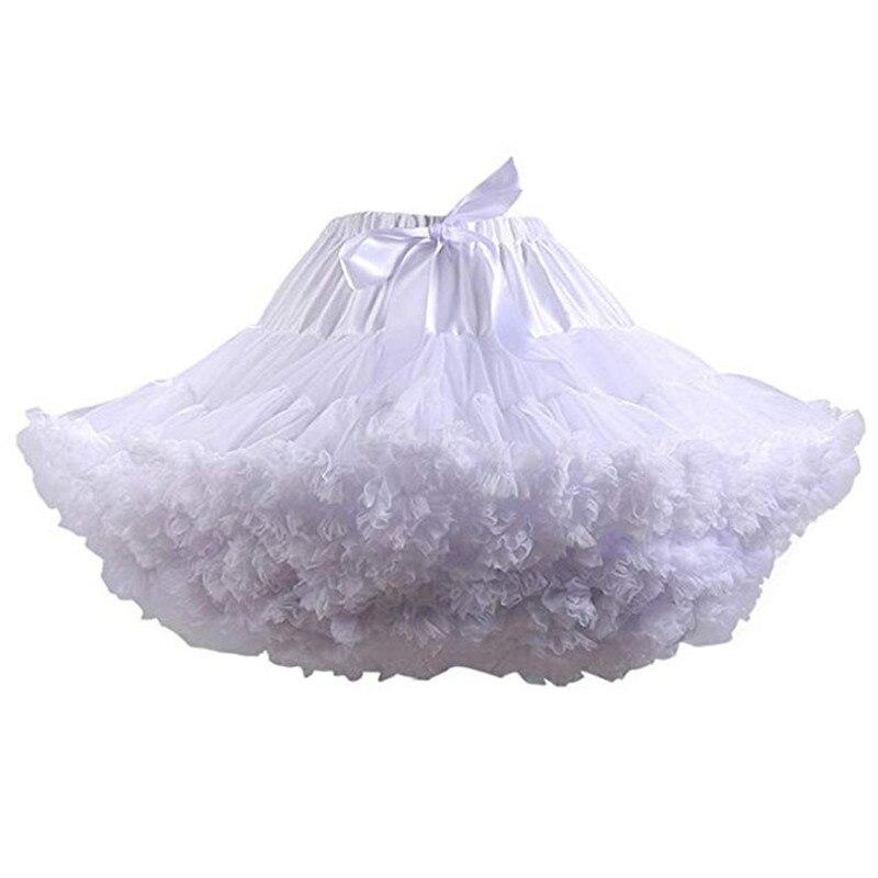 Nova chegada ancas de casamento nupcial crinoline senhora meninas underskirt para festa branco azul preto ballet dança saia tutu