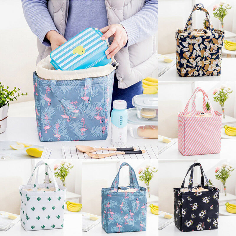 Lunch Bag Insulated Women Tote Thermal Box Cooler Travel Picnic Carry Girls Bag Casual Oxford Waterproof Unisex Lunch Handbag