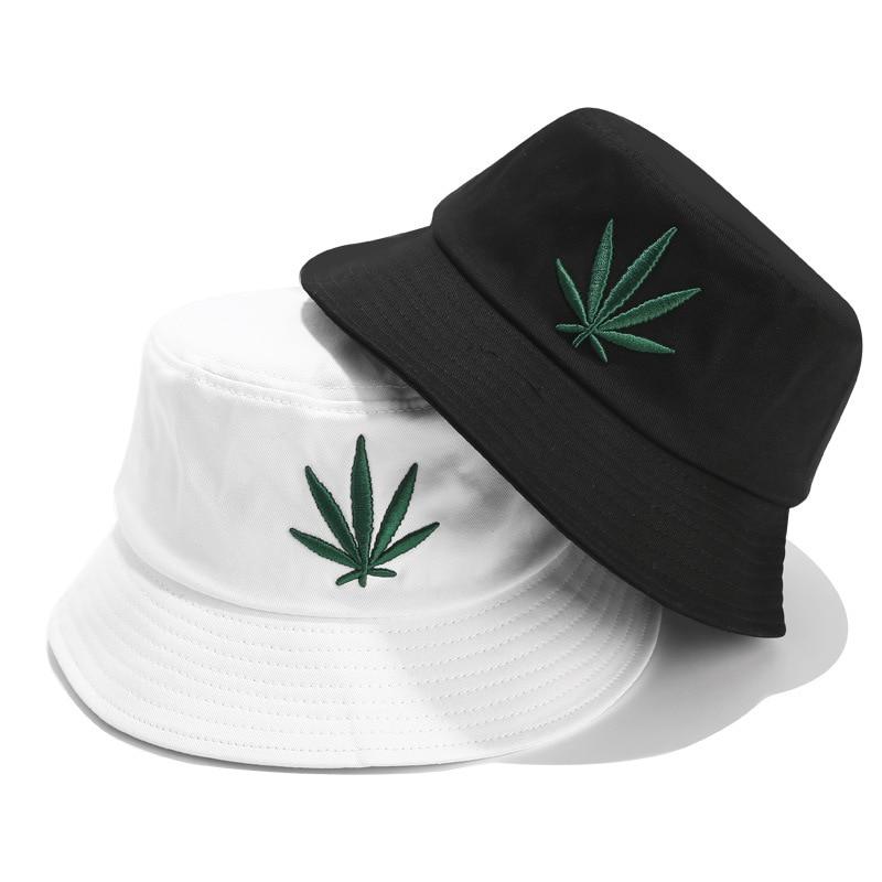 Men Women Maple Leaf Bucket Hat Hip Hop Fisherman Panama Hats Embroidery Cotton% Outdoor Summer Casual Bucket Cap