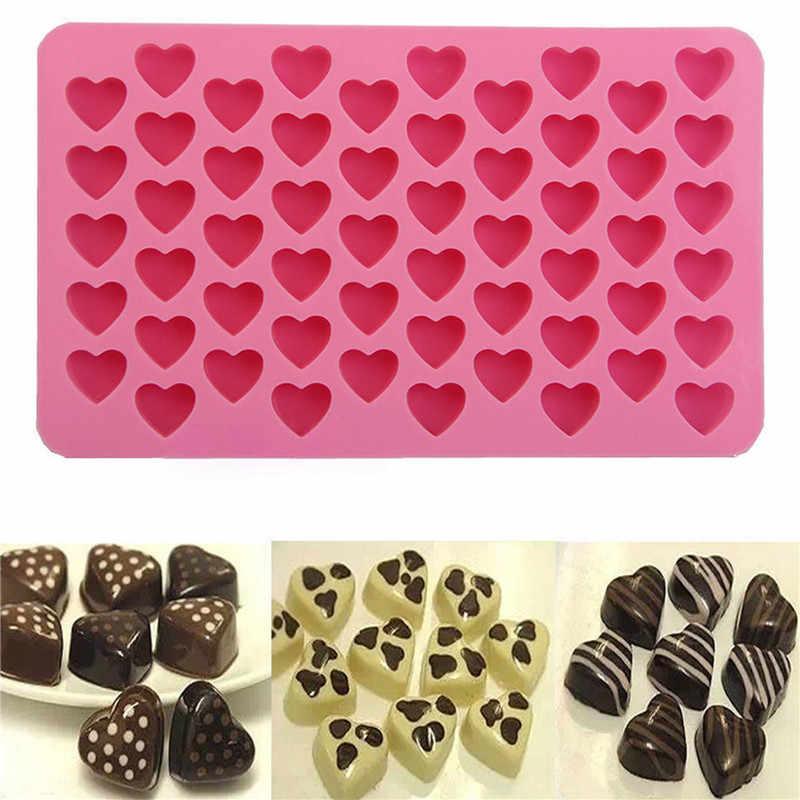 新しいケーキツール型チョコレート型トレイハート形耐熱皿ケーキデコレーション型ケーキスタンドフォンダンシリコーン金型TSLM2