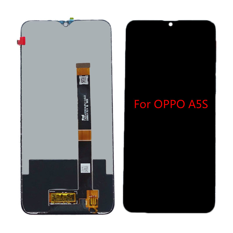 Top quality For <font><b>OPPO</b></font> <font><b>A5S</b></font> CPH1909 <font><b>LCD</b></font> Display With Touch Screen Digitizer Assembly Replacement Parts 6.2 inches Combo image