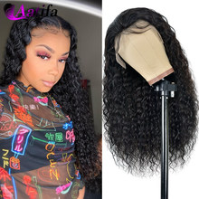 Water Wave Lace Front Wig Natural Hairline 100% Human Hair Wigs Brazilian Virgin Hair Pre-plucked 180 Density For Black Women