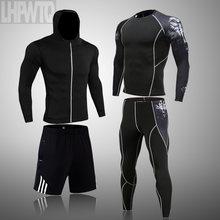 Ropa Deportiva de compresión para hombre, trajes de gimnasio transpirables, para corredores deportivos, entrenamiento, gimnasio, chándal para correr, 4XL, 2021