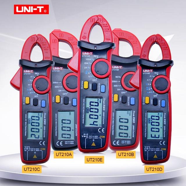Digital Clamp Meter UNI-T UT210A/B/C/D/E AC/DC Current Voltage meter True RMS Auto Range VFC Capacitance Non Contact Multimeter