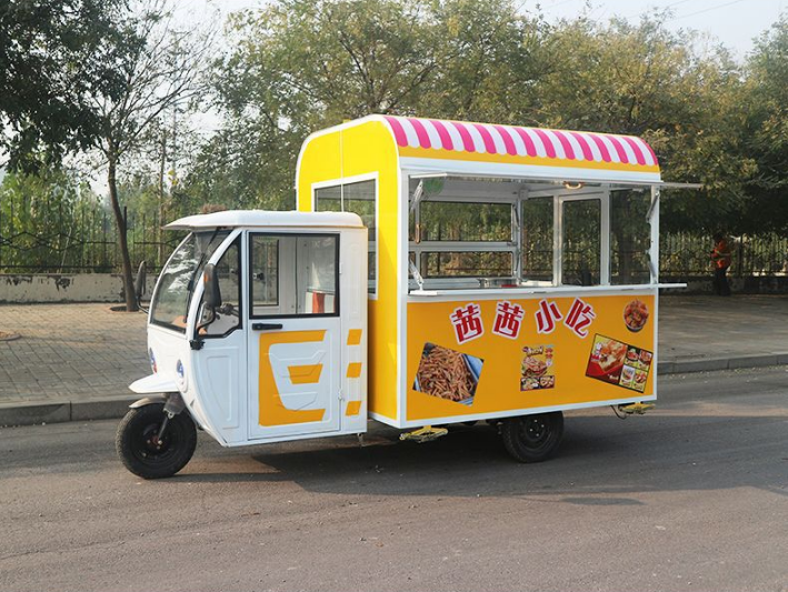 Brand New Street mobile food truck electric 3 wheels fast food vending kiosk carter hot dog truck tricycle in Best selling image