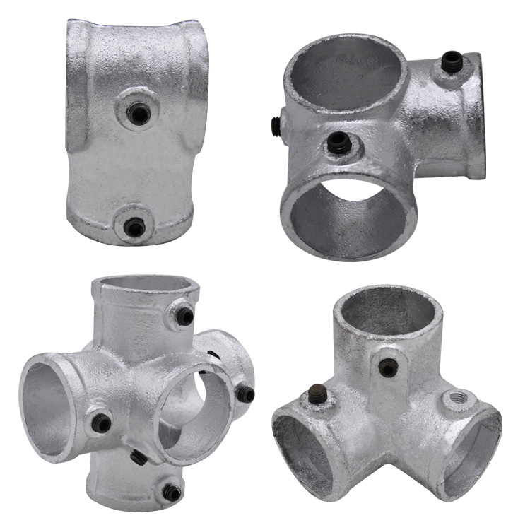 Assembly Type Stairs Limb Tool-Type Stairs Protective Grating Connecting Piece Splittable Unloading Steel Pipe Fittings Base