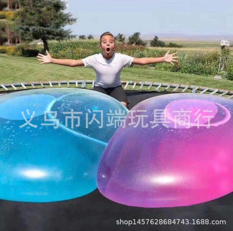 Wubble BUBBLE Ball TPR Blowing Balloons Air Ball Pai Qiu Bubble Ball Great Light Ball Gap Ball Blowing Machine