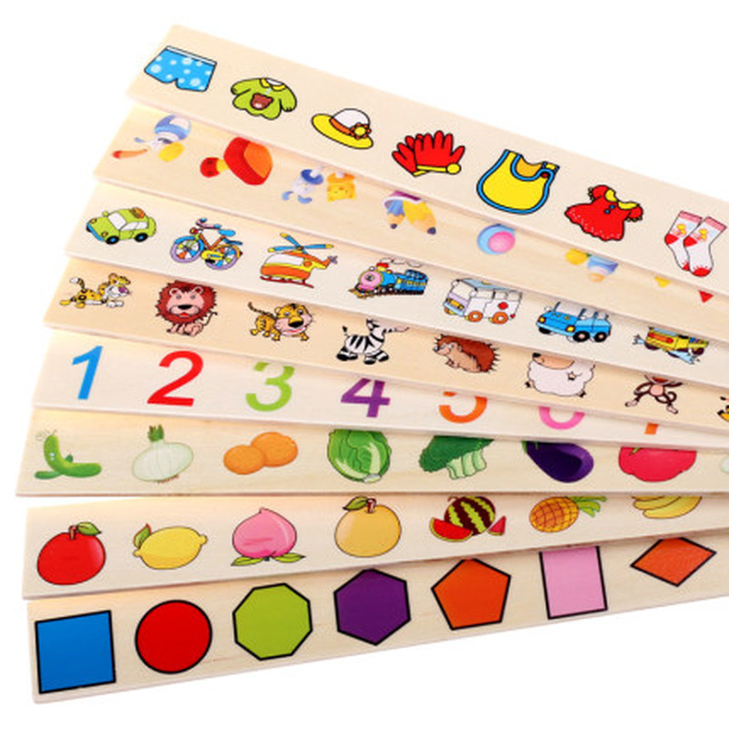 Mathematical Knowledge Classification Early Learn Matching Kids Montessori Early Educational Learn Toy Wooden Cognitive Matching 5