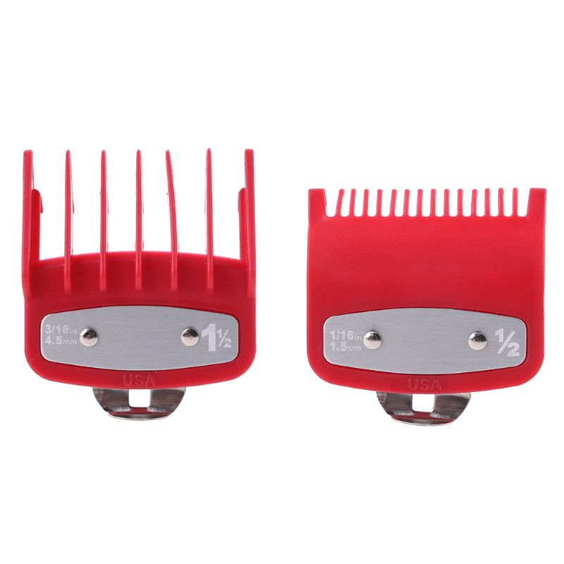 1PC/2PCS Professional Cutting Guide Comb Hair Clipper Limit Comb with Metal Clip Q0KD