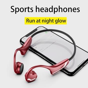 For Huawei Xiaomi Wireless Earphone Bone Conduction Bluetooth 5.0 Headset Anti-sweat Light Sports Stereo Hands-free Headphone sports wireless bluetooth headphone bone conduction stereo headset bt 4 1 neck strap earphone hands free earpiece for smartphone