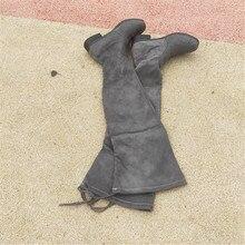 women shoes spring Knight Woman Long 2019 Flat Bottom Overknee autumn Single Boots