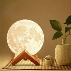 Светодиодный Ночной светильник, луна, звездное небо, проектор, новогодний подарок, детский ночник, 3d шар, шар, Галактический световой проект...