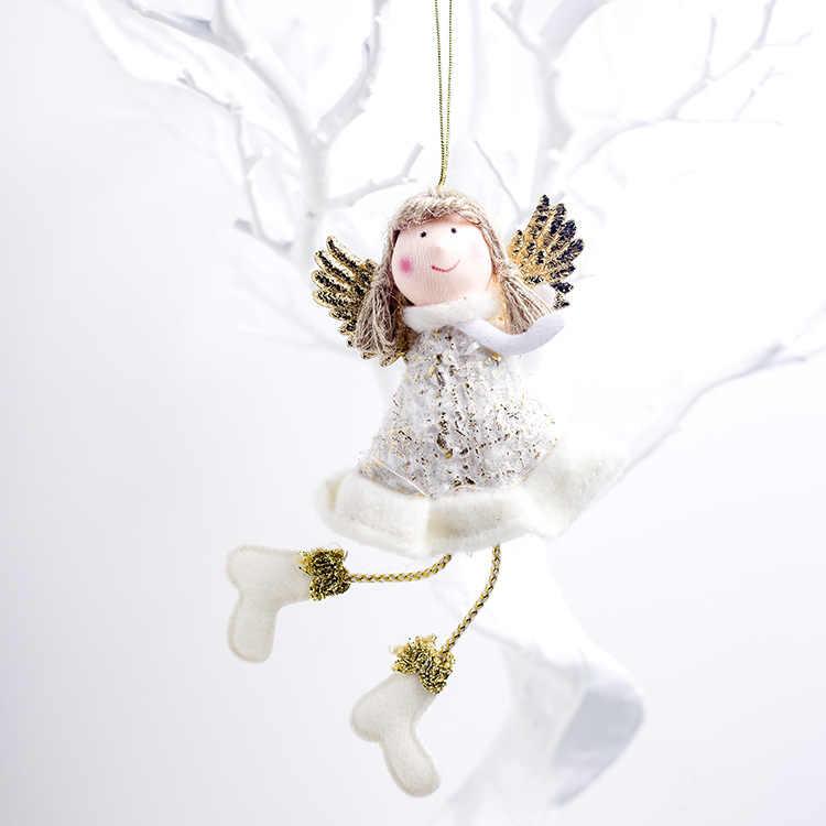 1PC น่ารัก Christmas Angel ตุ๊กตาจี้เครื่องประดับสำหรับ Christmas Party ปาร์ตี้ Xmas Tree ตกแต่งของขวัญเด็กใหม่ปี