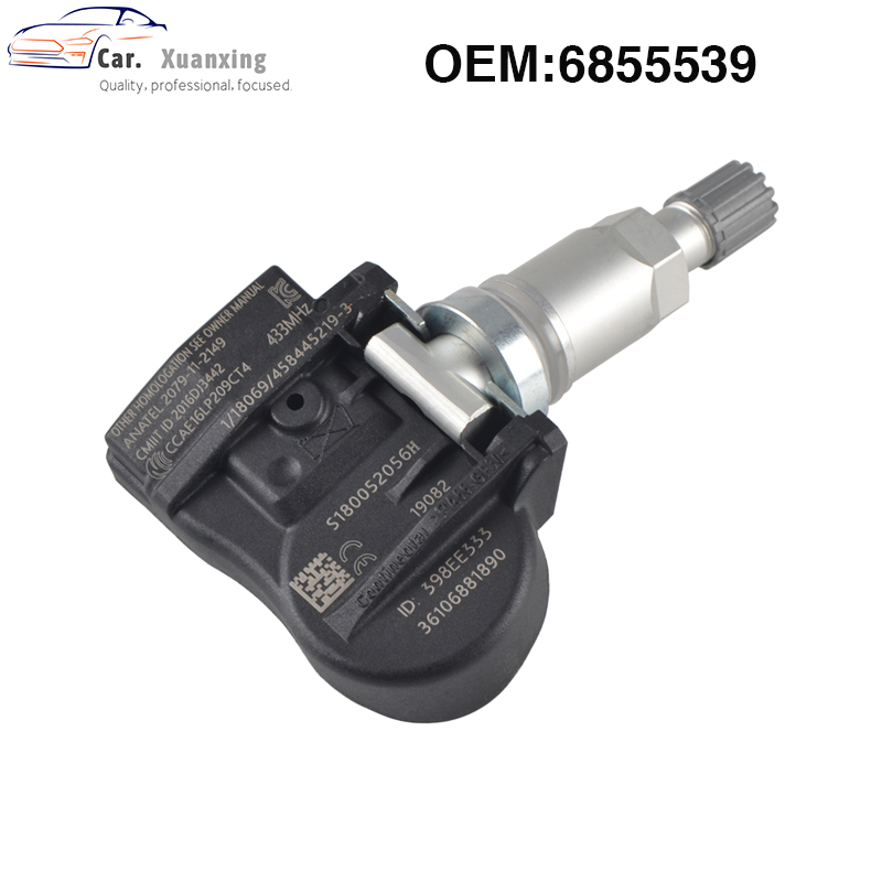 OEM 6855539 Tire Pressure Sensor Monitoring System TPMS 433MHZ For BMW 707355-10 70735510 707355 10 36106881890 36106856209