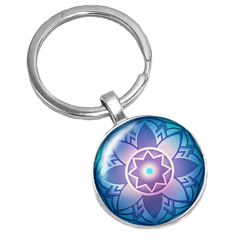 حار! 2019 جديد الخيال المحيط المشكال نمط سلسلة الزجاج كابوشون المفاتيح شعبية مجوهرات هدية