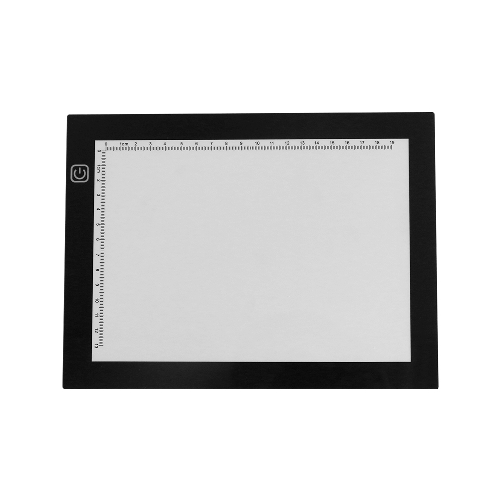 Portable A5 Light Box Tracer USB Powered Ultra-thin LED Artcraft Light Pad Copy Board With Scale 3 Level Adjustable Brightness